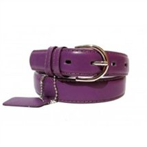 Genuine Leather Women's Dress Belt Basic Colors Dark Purple - $4.90