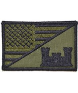 Army Engineer Castle USA Flag 2.25 x 3.5 inch Morale Patch (Olive Drab /... - $5.87