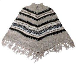Alpakaandmore Women Poncho Cusquena Alpaca Wool Original From Peru (Beige) - $113.85