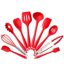 10Pce/set Silicone Kitchen Cooking Utensils Heat Resistant Baking Tools - $33.99