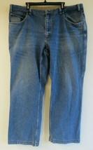 Mens Duluth Trading Co. Blue Denim Jeans Cotton Size 46x32 Straight Leg ... - $34.64