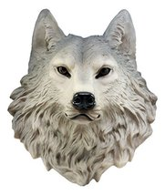"Ebros Gift Large Gray Timber Wolf Head Wall Decor Plaque 16.5"" Tall Taxi... - $50.60"