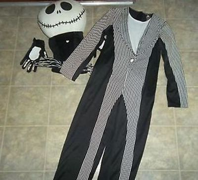 NEW Disney Jack Skellington Costume Skeleton Adult Medium