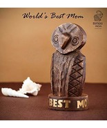 Eximious India Mother's Day Special Wooden Owl Eyeglass Spectacle Holder... - $21.01