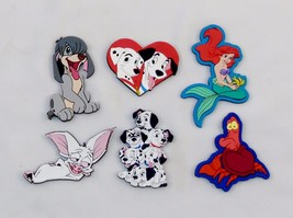 6 Pack Vintage Disney Vinyl Rubber Magnets, New In Package, Assorted Characters - $14.65