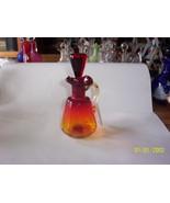 Rainbo Glass Co. Amberina Cruet - $34.65