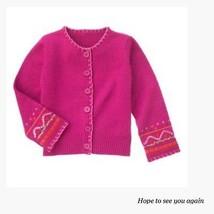 Gymboree NWT Peruvian Dolls Fuschi sequin Cadigan Sweater 4 6  9 - $14.00