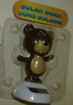 Solar Powered Dancing BROWN Bear - Head and Arms Sway in Sunlight