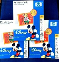 Lot of 3 packs of HD Note Cards With Disney Characters  NEW  - $10.37