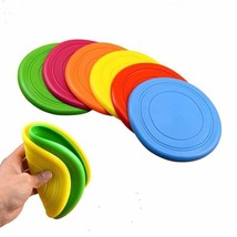 Soft Pet Toy Frisbee Silicone Flying Disc Outdoor Dog Training - $18.20