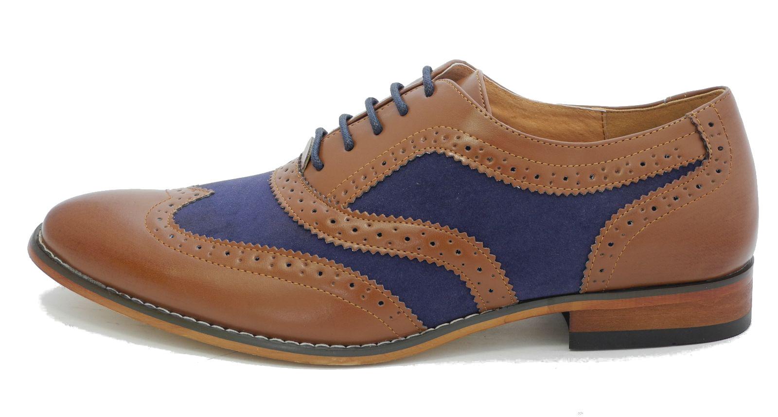 Mens Shoes Blue Brogues Size