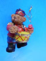 """Teddy Bear Drummer Boy Christmas Ornament 3"""" - $4.20"""