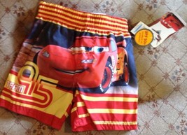 Swim Trunks Shorts Sz 12 Mo Disney Cars Lightning Mcqueen 95 UPF 50+ Inf... - $11.39