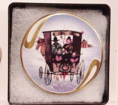 CHRISTMAS CARD BY P BUCKLEY MOSS SOCIETY 1996 PIN BROOCH PENDANT #18620 - $39.00