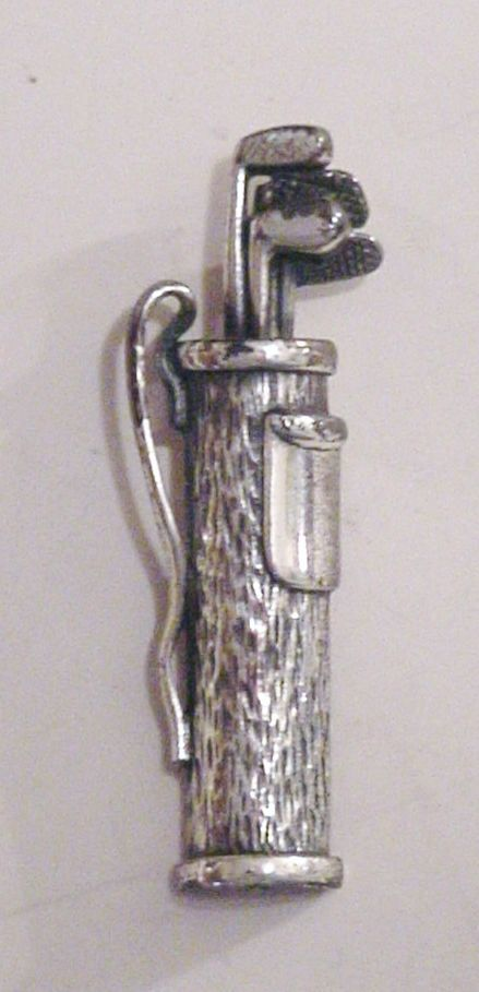 Primary image for Napier Golf Bag Brooch Pin Silver-tone 2 3/4""