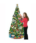 1 pc Jointed Christmas Tree 6 ft card ornament holder spectacular decora... - $14.47