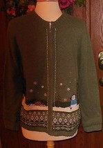 Croft & Barrow Women's Holiday/Christmas/Winter Sweater/Cardigan Size L - $15.83