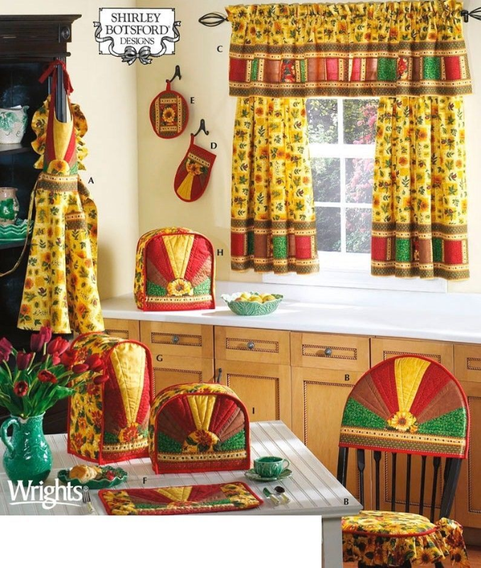 Simplicity 3979 Sunburst Kitchen Accessories and Misses Apron Pattern