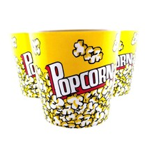 Large Popcorn Tubs Plastic Movie Container Theater Style Bowls BPA Free ... - $14.01+