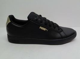 Puma Size 9.5 SMASH PERFORATED METALLIC Black Leather Sneakers New Women... - $88.11