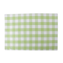 Cotton Placemats Checkered Green & White 4/pack - $14.89