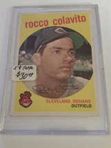 1959 Topps #420 Rocky Colavito : Cleveland Indians - $18.95