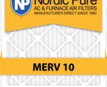 Nordic Pure 12x24x4 MERV 10 AC Furnace Filters Qty 1