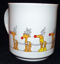 Vintage Sandra Boynton Rudolph & Yellow Boot Reindeer Christmas 12 oz Co... - $29.99
