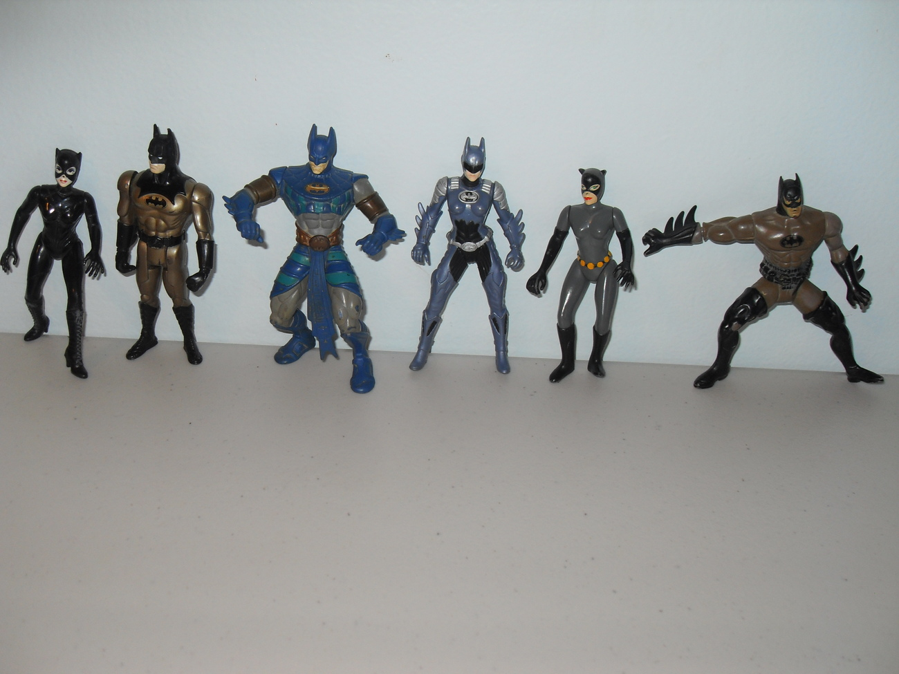 1990s Batman Lot Of 6 Figures