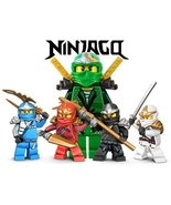 Ninjago Lego Fighting Warriors 1/4 Sheet Edible Photo Birthday Cake Topp... - $8.50