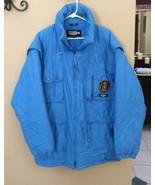 Vintage 1980's Snuggler sz Blue Snow Ski Jacket Men's L Zip Up - $29.69
