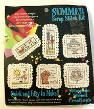 Wimpole Street Creations Summer Scrap Stitch Kit Counted Cross Stitch Quick Ez - $17.61