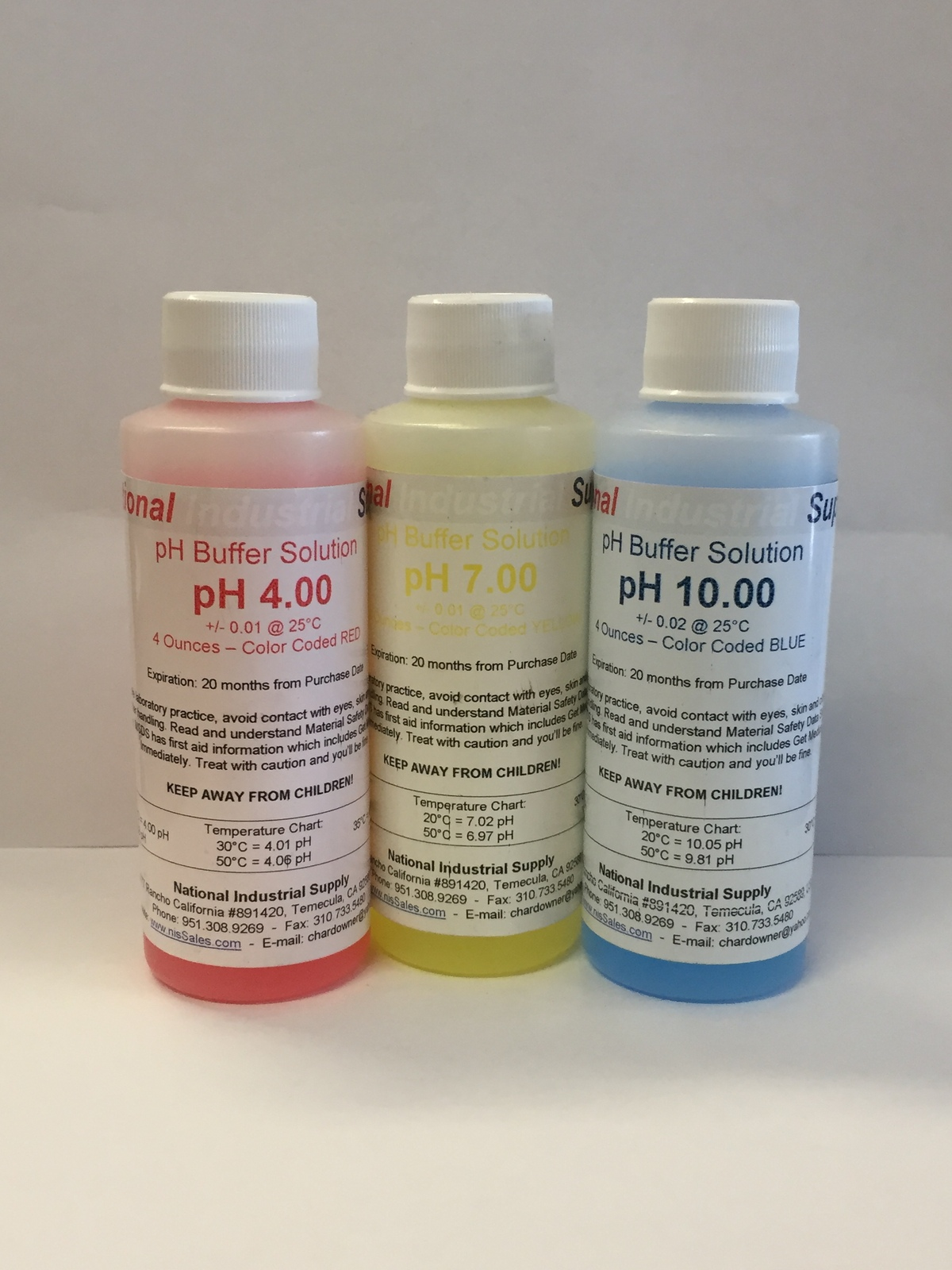 pH Meter Calibration Buffer Solution - 4, 7 OR 10 - 4oz