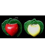 Old Golden & Red Delicious Pottery Wallpocket Wall Pocket  - $24.50