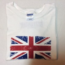British Flag T-Shirt NWOT Sz L Gildan Ultra Cotton White  - $8.99