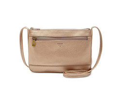 New Fossil Women Mini Leather Crossbody Bag Variety Color - $67.75