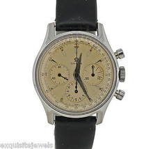 Vintage C1950 Omega Stainless Steel Hand Wind Chronograph 2451-7 35mm Working - $5,494.86