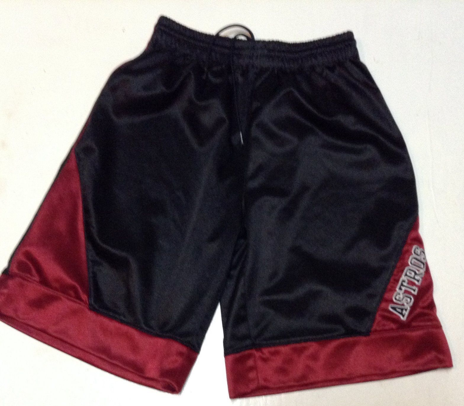 Boys Astros Shorts Black Red Size XL 20 Mighty Mac Sports