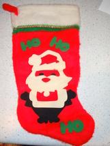 Kitish  Mid Century Ho Ho Santa Christmas Stocking - $9.99