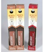 New Burts Bees Liquid Lipstick Lot Of 3 Niagra Nude /802  Rushing Rose/ 812 - $14.29