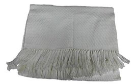 Alpakaandmore Unisex Wooven White Scarf Alpaca Wool Shawl (White) [Apparel] - $1.403,67 MXN