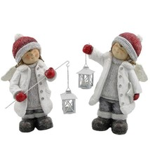 Set of 2 Angel Figurines with Lanterns - $124.69