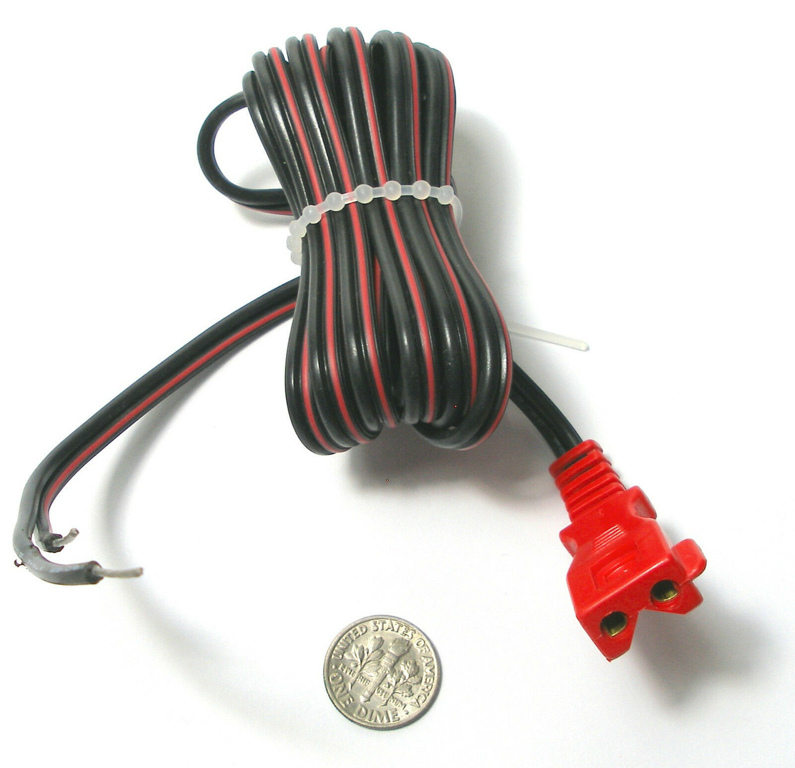 6' Vintage TYCO HO Slot Car Track Transformer HEAVYDUTY POWER PIG TAIL Plug Lead - $6.92