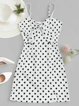 Women Sexy Polka Dots Pattern Bodycon Dress Spaghetti Strap Bow Knot  Hi... - $17.83