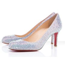 366f2e800688 Christian Louboutin Simply Mary 100mm Strass Silver  893 -  278.00
