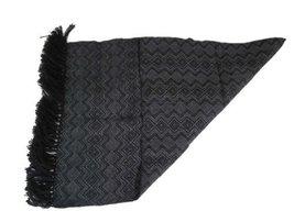 Alpakaandmore Unisex Wooven Scarf 100% Alpaca Wool 63x23.60 (Black) [App... - $71.28