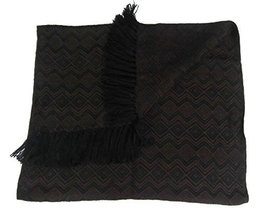 Alpakaandmore Unisex Wooven Scarf 100% Alpaca Wool 63x23.60 (Dark Brown) - $1.403,67 MXN