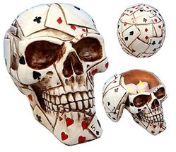 Atlantic Collectibles Ace Cards Royal Flush Poker Game Skull Utility Kee... - $22.99