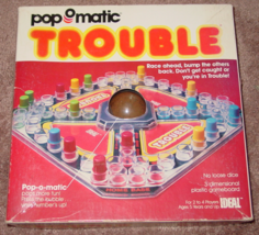 Popomatic Trouble Game 1980 Ideal #07310 Complete Excellent Vintage - $20.00