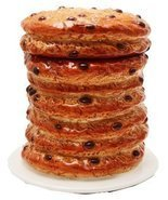 8 Inch Giant Stacked Chocolate Chip Cookies Ceramic Jar Figurine - $25.25